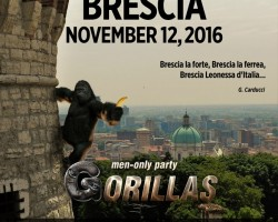Gorillas men-only party Brescia | 12.11.2016