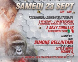 Gorillas men-only party Paris | 23.09.2017